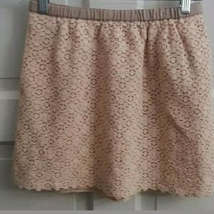 J. Crew Womens Peach/Pink Lace Mini Skirt Size 2
